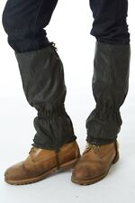 Sherwood Forest Waxed Gaiters,Ideal Shooting/Beating/Hiking,Olive,One Size