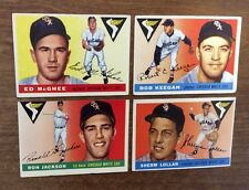 Lot Of 1955 Chicago White Sox Baseball Cards. Lollar, Keegan, McGhee, Jackson