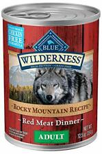 Blue Buffalo Wilderness Rocky Mountain Recipe Red Meat Dinner Adult Canned Dog