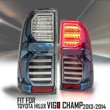 Blue LED Tail Lights Lamps Rear For Toyota Hilux Vigo Champ MK7 Pickup 2011-2015