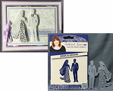 Bride and Groom metal die - Tattered Lace cutting Dies D236 wedding couple