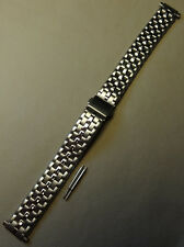 New Womens Speidel Stainless Steel Push Button Clasp Trifold 12-16mm Watch Band