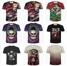 Neu Frauen Harley Quinn Print Tshirts Herren Suicide Squad Joker Kurzarm T-shirt
