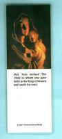 Bookmark Virgin Mary Baby Jesus Madonna Christan Religious Pocket Prayer Card