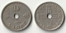 1947 Norway 50 ore coin