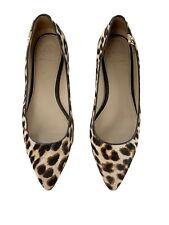 Tory Burch Elizabeth Pointed Toe Flats Size 8.5 Leopard