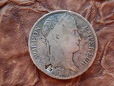 MONNAIE 5 FRANCS ARGENT NAPOLEON I EMPEREUR 1810 L DROITE BAYONNE FAUTEE