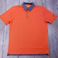 Nike Golf Performance Polo Shirt Mens Medium Orange Dri-Fit Short Sleeve P135