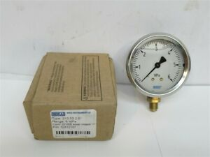 """Wika 528121, 6 MPa Pressure Gauge, 2.5"""" Face, Stainless Steel, G1/8B Connection"""