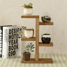 Wooden Plant Stand Succulents Display Shelf Mini Planter Storage Home Decor Rack