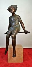 SITTING WOMAN. BRONZE. SIGNED (ELIAS) TORO. PROOF OF ARTIST. SPAIN. YEAR 2000