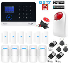 K80 WiFi Internet APP GSM RFID Wireless Home Security Alarm System+Strobe Light