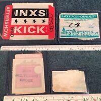 1987 INXS KICK TOUR Aftershow Pass MICHAEL HUTCHENCE Greek Theatre Del Fuegos 👀