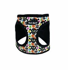 Bark Appeal Skull & Flowers Canvas/Mesh Dog Step In Harness Sizes XXS-XL