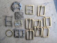 Vintage Lot 13 Solid Brass 1970s Belt Buckles