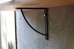 Metal Shelf Brackets 200mm, 350mm (20cm, 35cm) & Fixings Industrial Rustic Steel