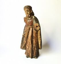 """Antique 18th-19th C. Spanish Colonial ? Carved Wood Santos Figure of Jesus 10"""""""