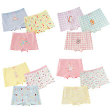 3Pcs Girls Cotton Panties Lovely Animals Print Stretchy Breathable Briefs Shorts