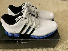 Adidas Men's Tour 360 ATV Golf Shoe Size 9 US White/Air Force Blue/Black. NWT