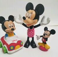 DISNEY COLLECTIBLE MICKEY MOUSE  FIGURES  Pack of 3 shipping free!