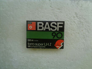 Vintage Audio Cassette BASF Ferro Super LHI 90 * Rare From 1977-79 * C-Box