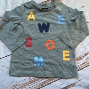 First Impressions Toddler long sleeve T-shirt-gray-size 18 Months-NWT