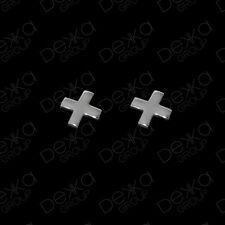 Genuine 925 Sterling Silver X Criss Cross Stud Earrings Girls Children Women Men