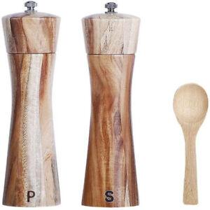Wooden Salt Pepper Spice Mill Grinder Set Classical Ceramic Grinding Core Tools