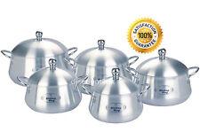 10PC Belly Shape Saucepan Set Aluminium Casserole Boiling Pot by Kitchen King
