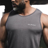 Men's Muscle Gym Workout Stringer Tank Tops Bodybuilding Fitness T-Shirts