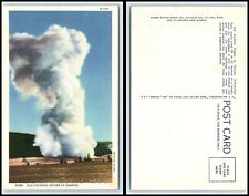 Yellowstone National Park Postcard - Old faithful Geyser At Sunrise P18