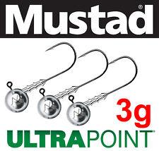 Mustad Jig Heads 3g - hook 1, 1/0, 2/0, 3/0, 4/0 Mustad Ultra Point