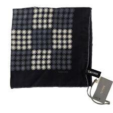 NWT Auth TOM FORD Colorblock Print 100% Silk Pocket Square Handkerchief $190