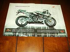2005 HONDA CBR600RR  ***ORIGINAL 2 PAGE AD*** RC211V