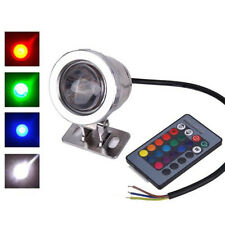 IP65 10W 12V RGB LED Light Fountain Pool Pond Spotlight Underwater Lawn Lamp New