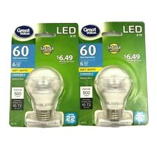 LED Bulbs 60 Watt Equivalent Dimmable Medium Screw Base A15