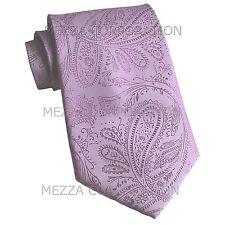 New Vesuvio Napoli polyester Men's necktie paisley wedding formal prom Lavender