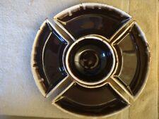 Vintage Pfaltzgraff Brown Drip Lazy Susan 5PC Chip Dip Vegetable Serving Tray