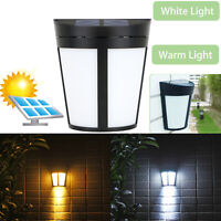 Solar Power Wall Mount 6 LED Light Outdoor Garden Path Landscape Fence Yard Lamp