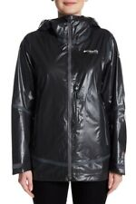 Women's Columbia Shell Jacket Black Large Snow Rain Waterproof Coat Winter Fall