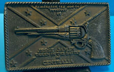 Vtg Belt Buckle Instyle Prov.R.I. Remington Cap And Ball Revolver Of Jesse James