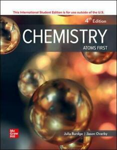 Chemistry: Atoms First 4E By Julia Burdge, Jason Overby ( ISBN:9781260571349 )
