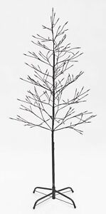 White Lighted Twig Tree - Outdoor Christmas Decoration – 5'