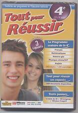 NEUF LOGICIEL PC TOUT POUR REUSSIR 4e 13-14 ANS 1600 EXERCICES + ASSR REVISION