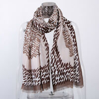 Women's Printed Long Scarf Scarves Head Shawl Stole Wrap Cotton Blends Accessory