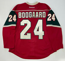 Derek Boogaard Minnesota Wild Reebok Edge Authentic Jersey 52 Red