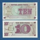 BRITISH ARMED FORCES -- 10 NEW PENCE ND ( 1972 ) -- UNC -- PICK M48 .