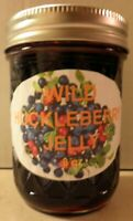 Fresh WILD HUCKLEBERRY JELLY 1/2 Pint (8 oz.) Organic, FREE SHIPPING
