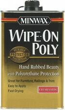 Minwax Wipe-On Poly Polyurethane Clear Satin furniture cabinets woodwork doors