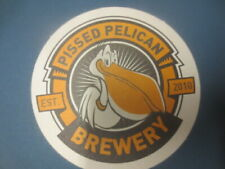 1 only PISSED PELICAN Craft Brewing Co. Micro Brewery COASTER